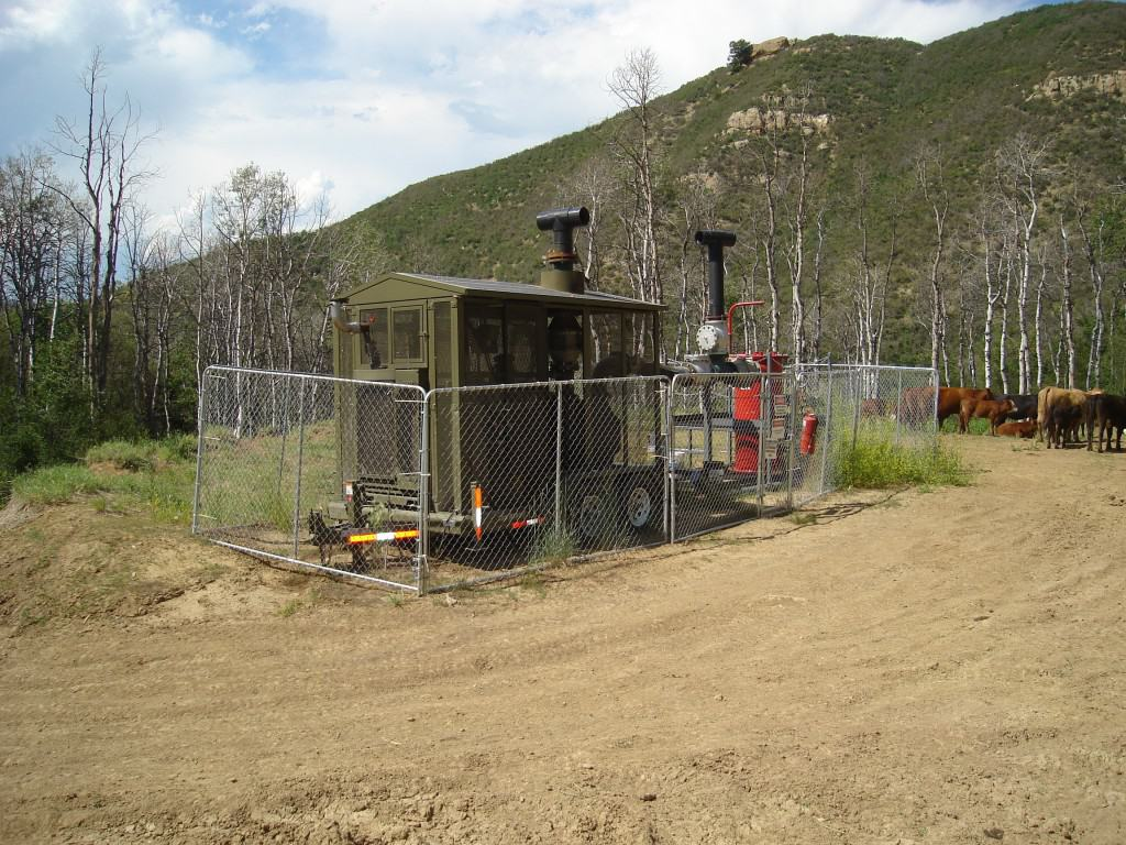 This is a methane drainage well for an underground coal mine like Elk Creek mentioned in this story.