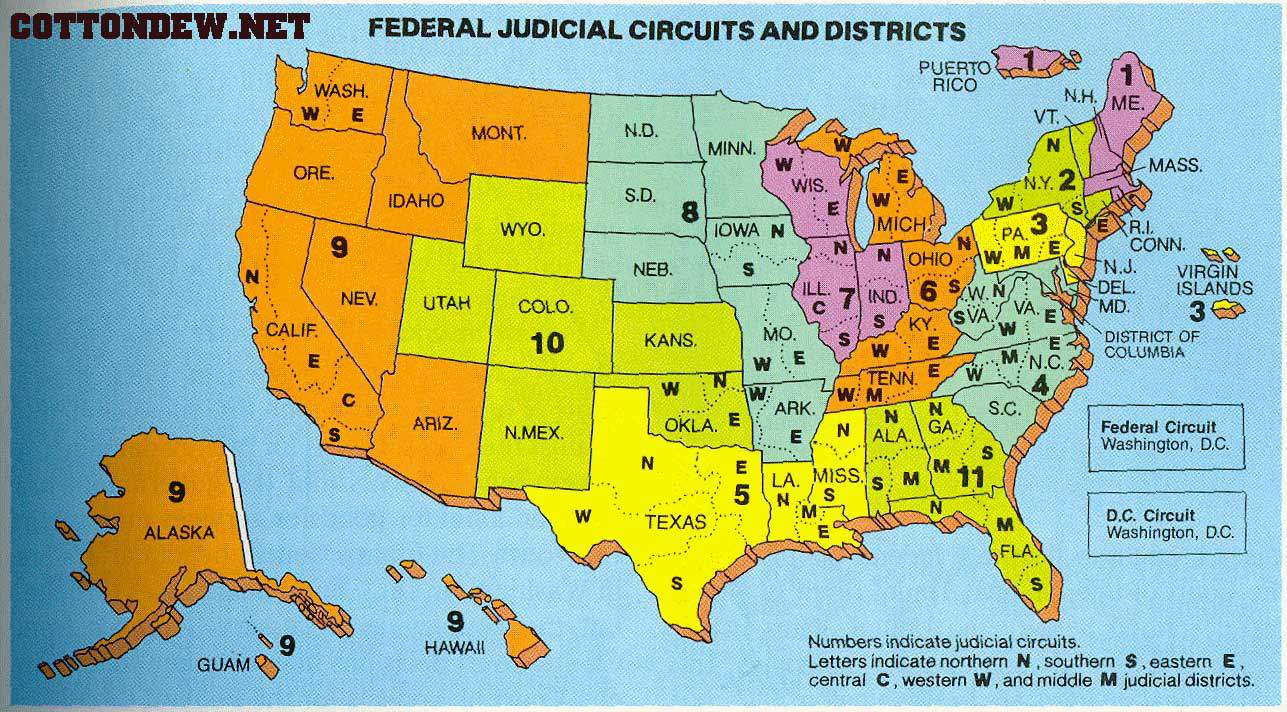 Federal District Court Map Map of Federal Courts – The Smokey Wire : National Forest News and