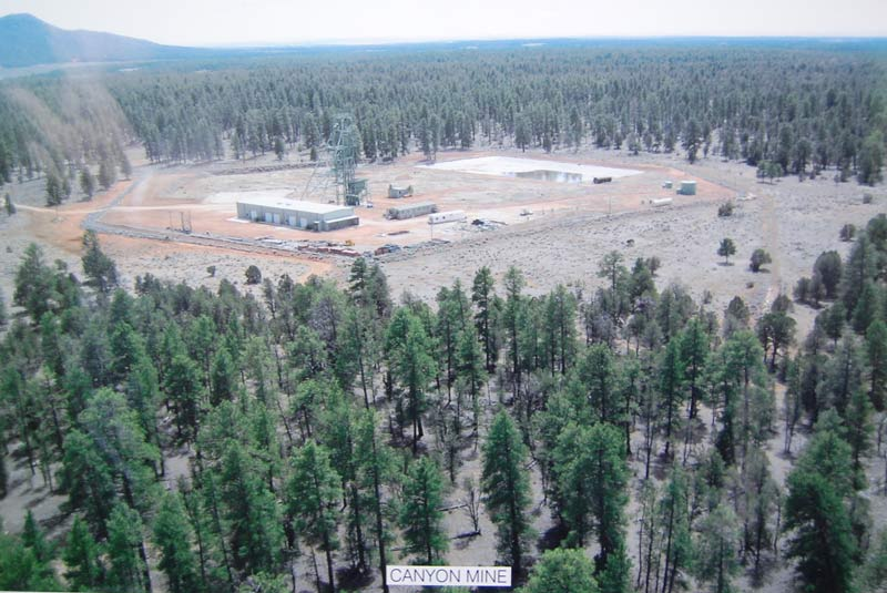 I think this is the Canyon uranium mine on the Kaibab.