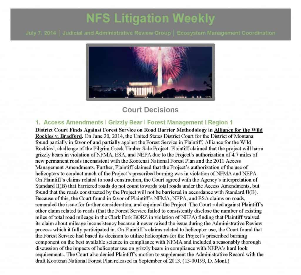 Pages from 2014_07_07 NFS Litigation Weekly