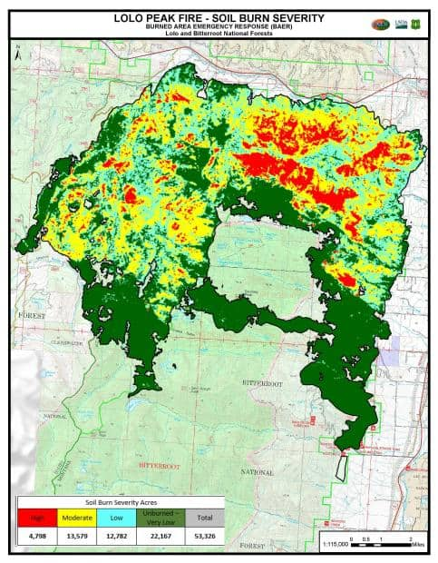 Forest Service Releases Soil Burn Severity Maps For Some Montana - Map of us forest service labs